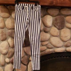 Divided H&M skinny striped pants, sz 8
